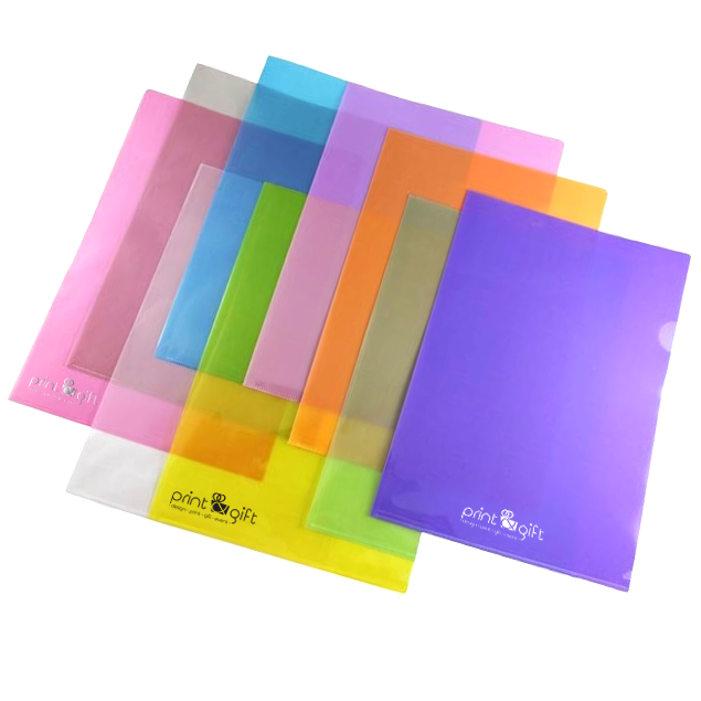 clear transparent file folder