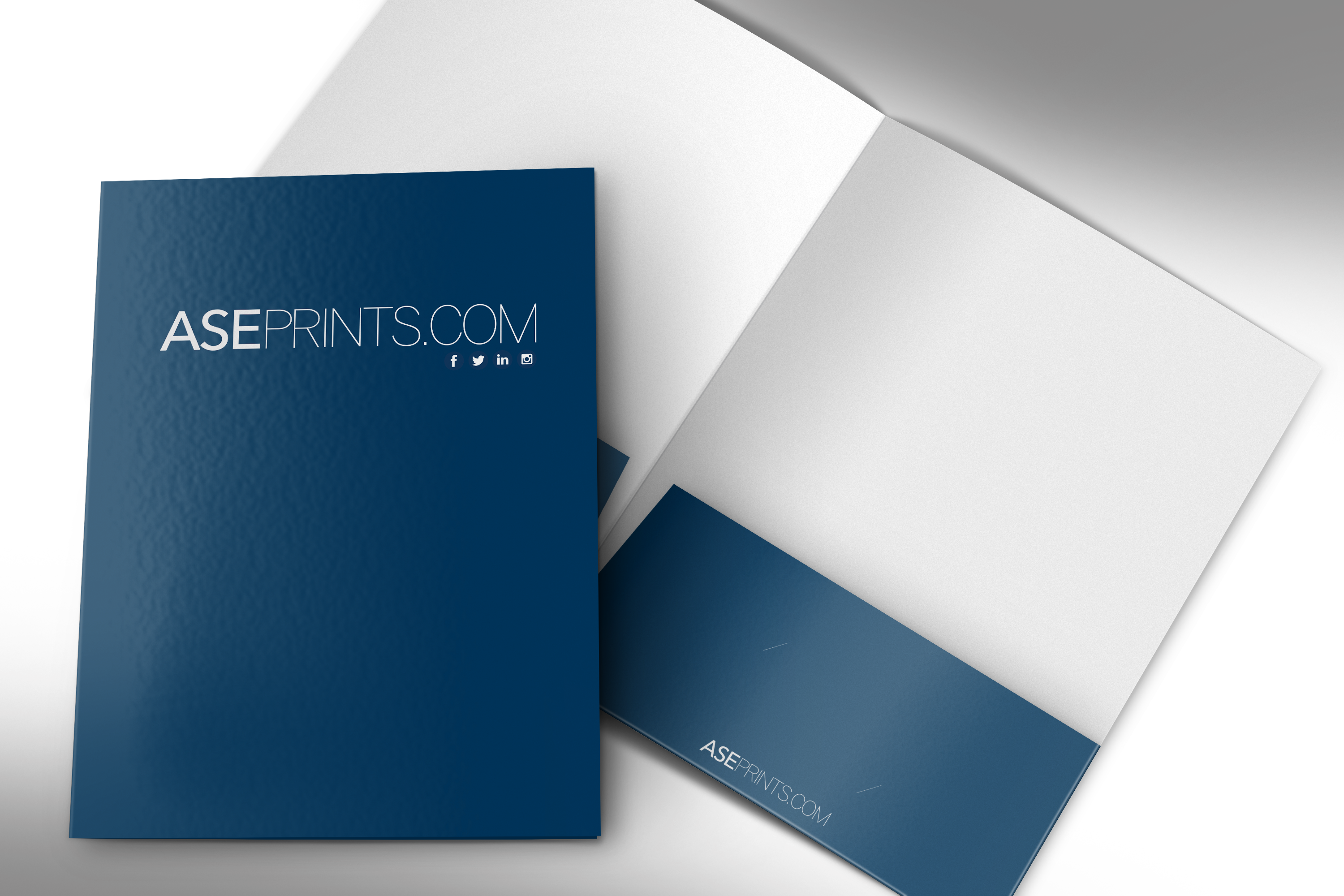 Transparent folders interview visa. Presentation folder x