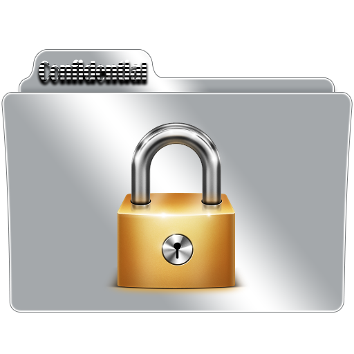 Transparent folders confidential. Folder icon by gterritory