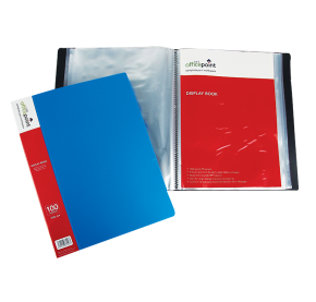 Transparent folders display. Books product categories view