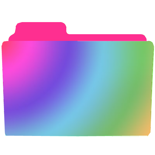 Transparent folders ico file. Rainbow folder icon by