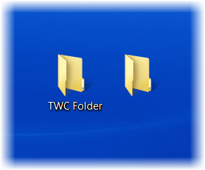 Transparent folders invisible. How to create blank