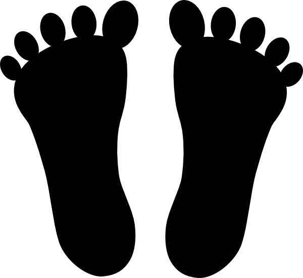 Transparent foot animation. Opening title sequence home