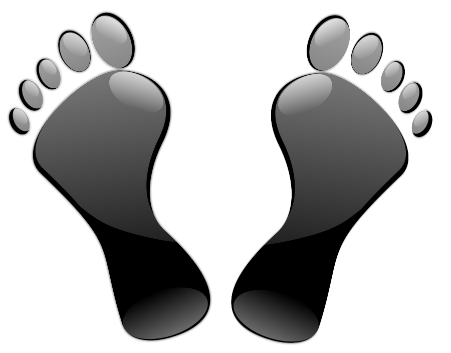 Transparent foot floor clipart. Collection of feet