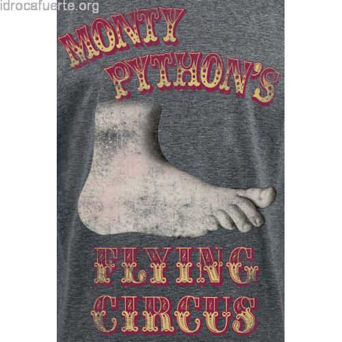 Transparent foot monty python. Null flying circus mottled