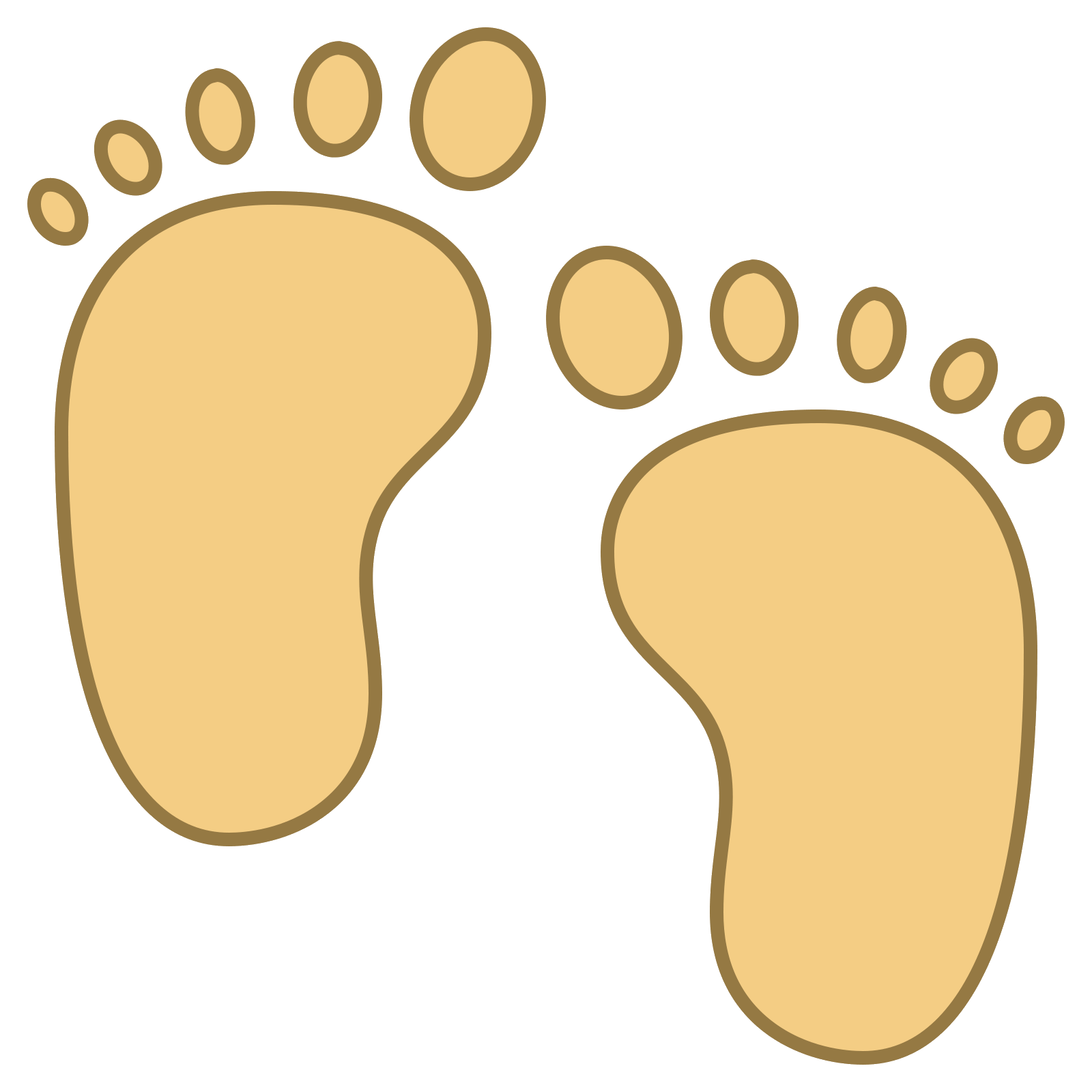 Vector footprints monster. Baby feet icon free