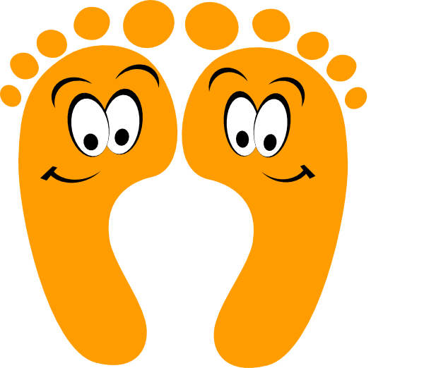 Toe drawing animated. Orange happy feet clip