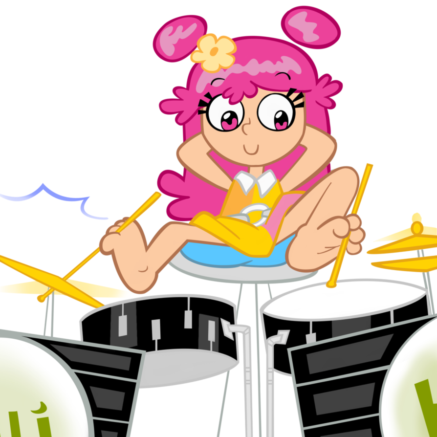 Drawing drums anime. Ami playing the with
