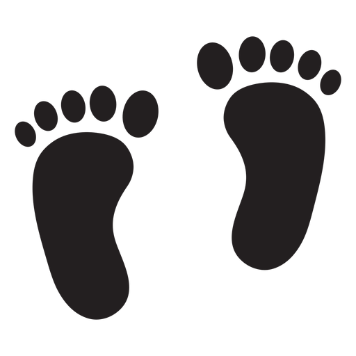 Transparent footprints silhouette. Two feet footprint png
