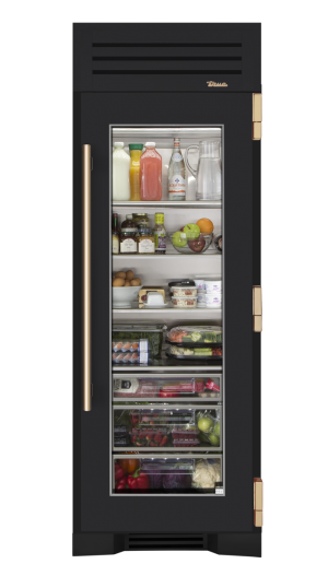 Transparent fridge frosted glass. I designed a custom