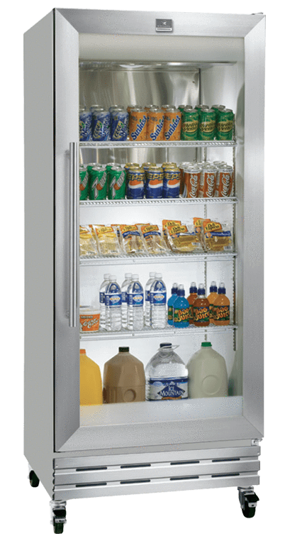 Transparent refrigerator clear door. Kelvinator kcgm rqy single