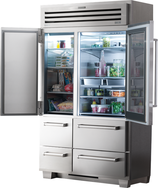 Transparent refrigerator zero. Pro with glass door