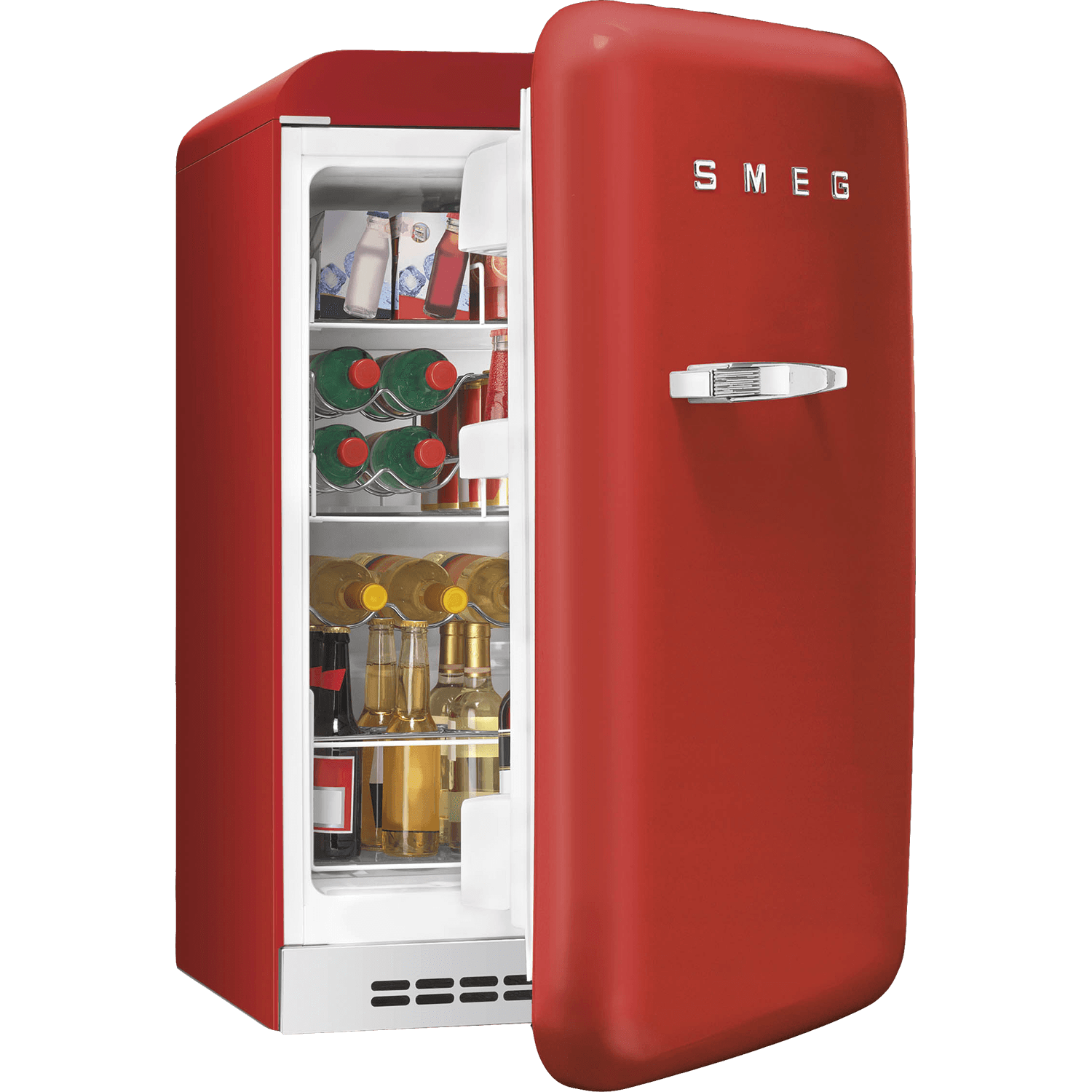 Transparent fridge red. Vintage refrigerator png stickpng