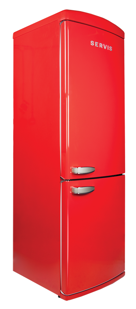Transparent fridge red. Servis c nfr chilli