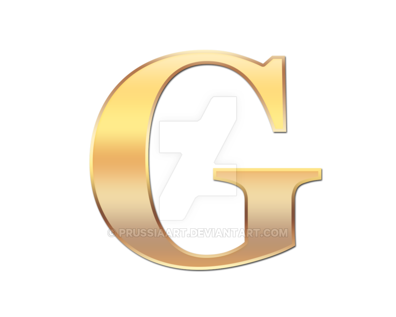 Transparent g golden. Letter by prussiaart on