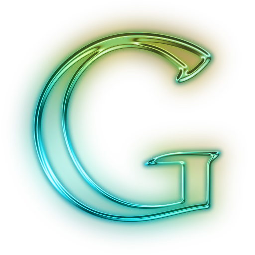 Transparent g neon. Letter icon png free