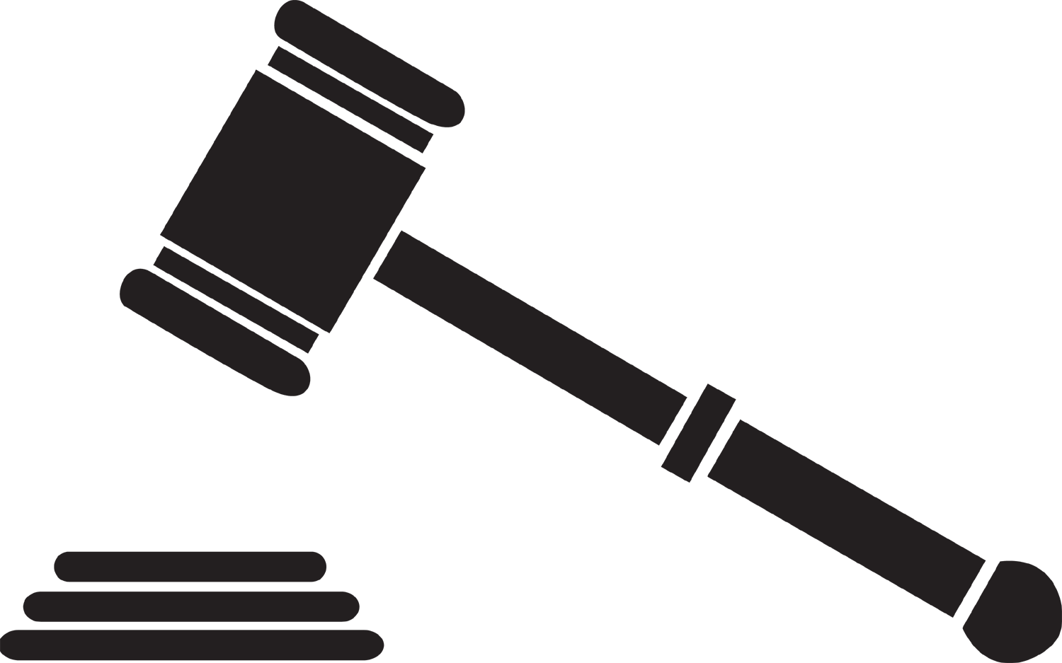 Transparent gavel auction. Cliparts for free