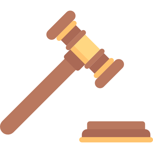 Transparent gavel debate. Collection of free gabbled