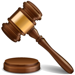 Transparent gavel justice. Scales of academy submit