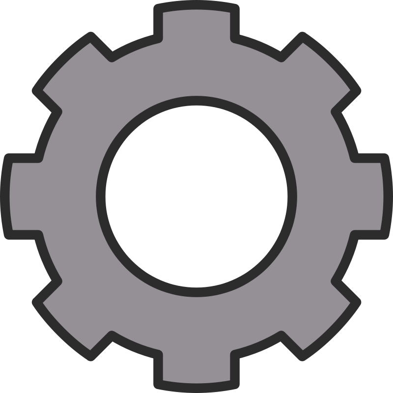 Transparent gear bitmap. Collection of free gearing