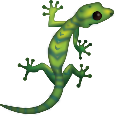 Transparent gecko amphibian. Download lizard iphone emoji
