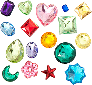 Transparent gem kawaii. Image about cute in