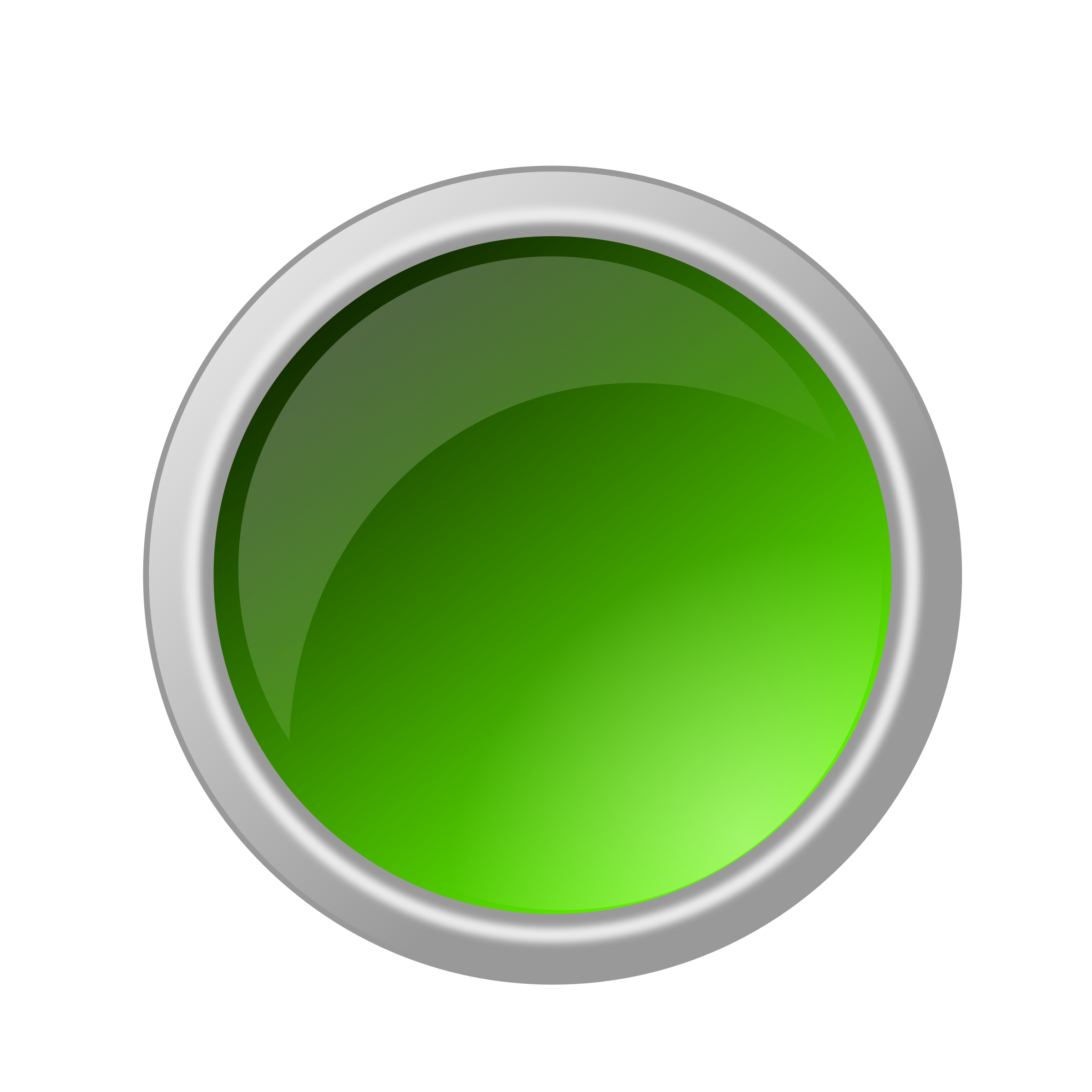 Transparent glass button png. Clipart glossy green big