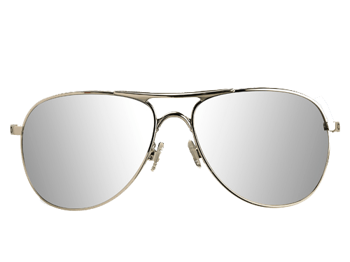 Mirror sunglasses background. Aviators transparent vector library stock