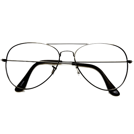 transparent aviators prescription clear
