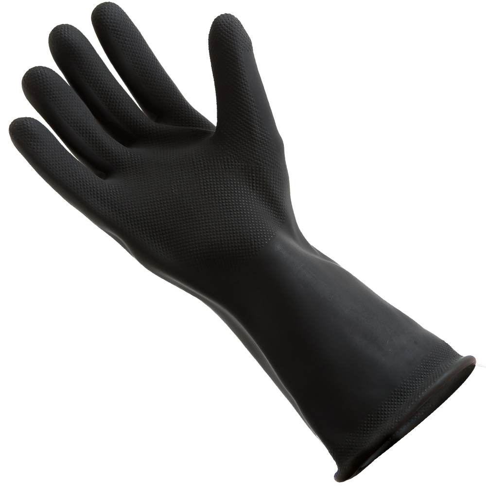 transparent gloves rubber