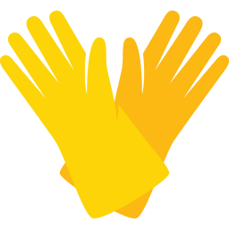 Transparent gloves cleaning. Icon myiconfinder