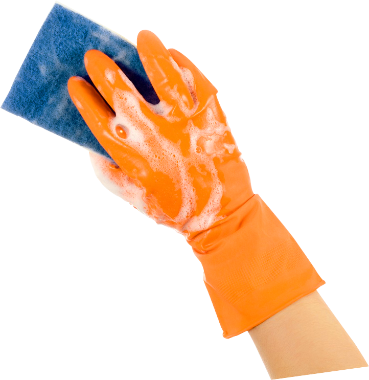 Transparent gloves cleaning. Best commercial office services