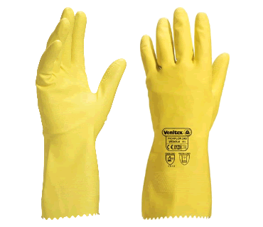 Transparent gloves cleaning. The importance of wearing