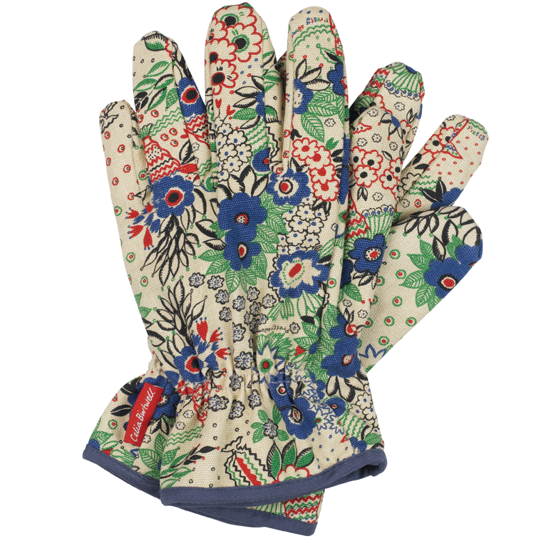 Transparent gloves gardening. With very fashionable roots