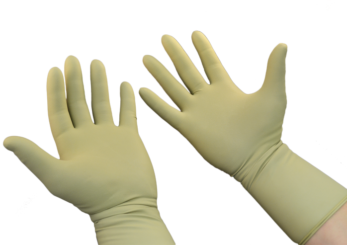 Transparent gloves protective. Radiation protection