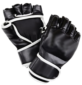 transparent gloves mma