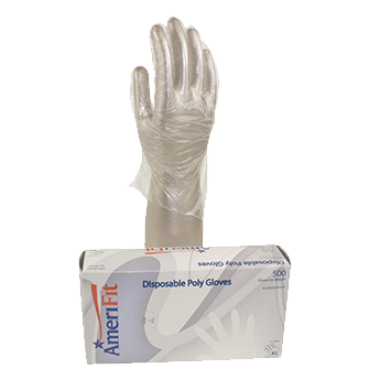Transparent gloves poly disposable. Household gallimore products inc
