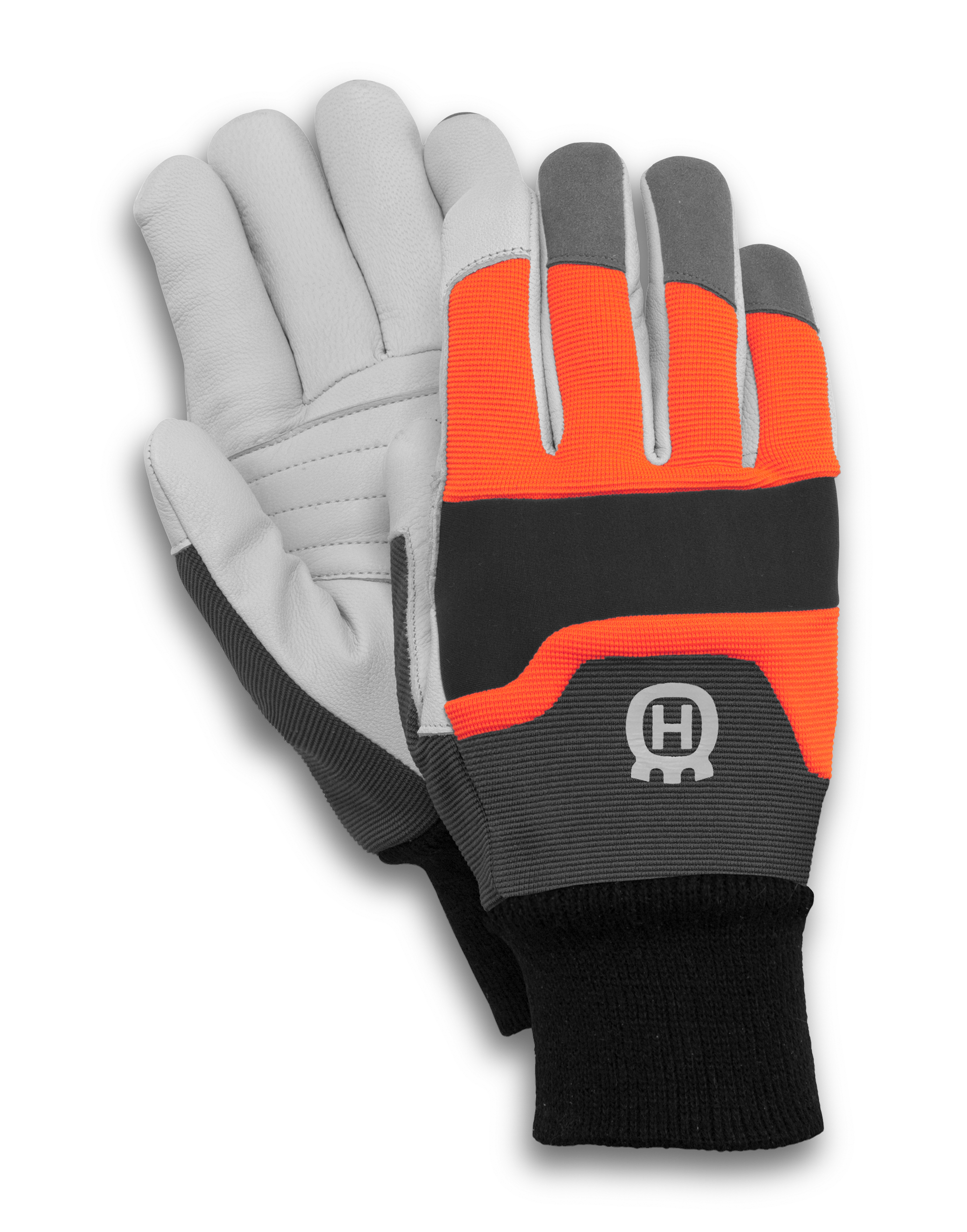 Transparent gloves protective. Husqvarna functional chainsaw protection