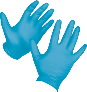Transparent gloves rubber. Catalog the finger and