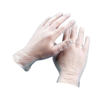 Transparent gloves poly disposable. Industrial grade mil clear