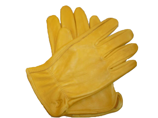 Transparent gloves yellow. Glove transparency and translucency