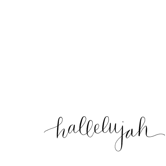 Hallelujah transparency overlay for. Transparent word faith clipart black and white stock