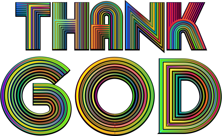 Transparent god typography. Download free png thank