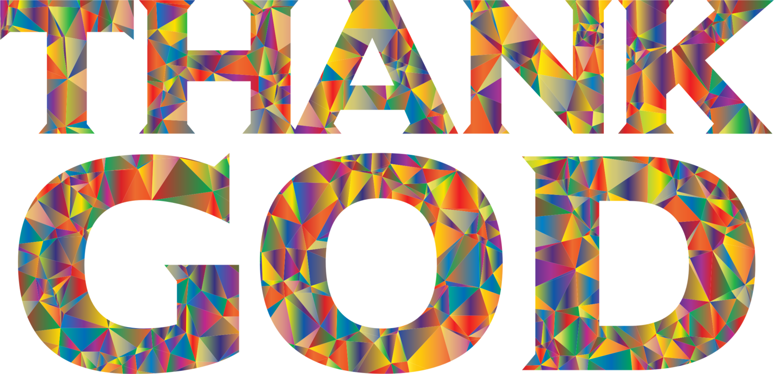 Transparent god typography. Low poly free commercial