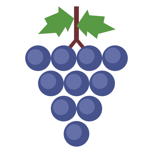 Transparent grapes svg. Leaves cluster png vector
