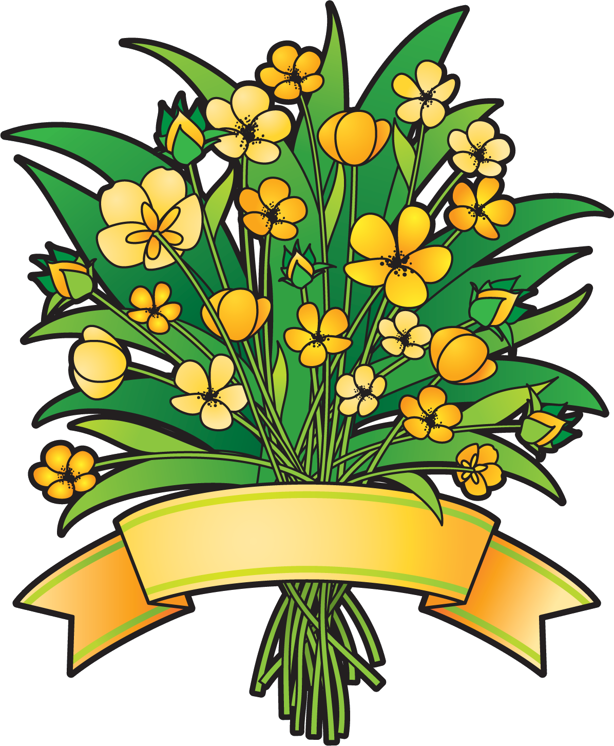 Transparent grave flower clipart. Bouquet of flowers image