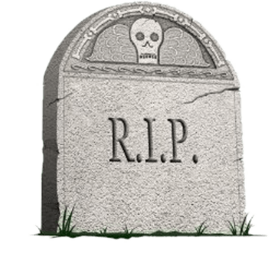 Transparent grave rip. Headstone side view png