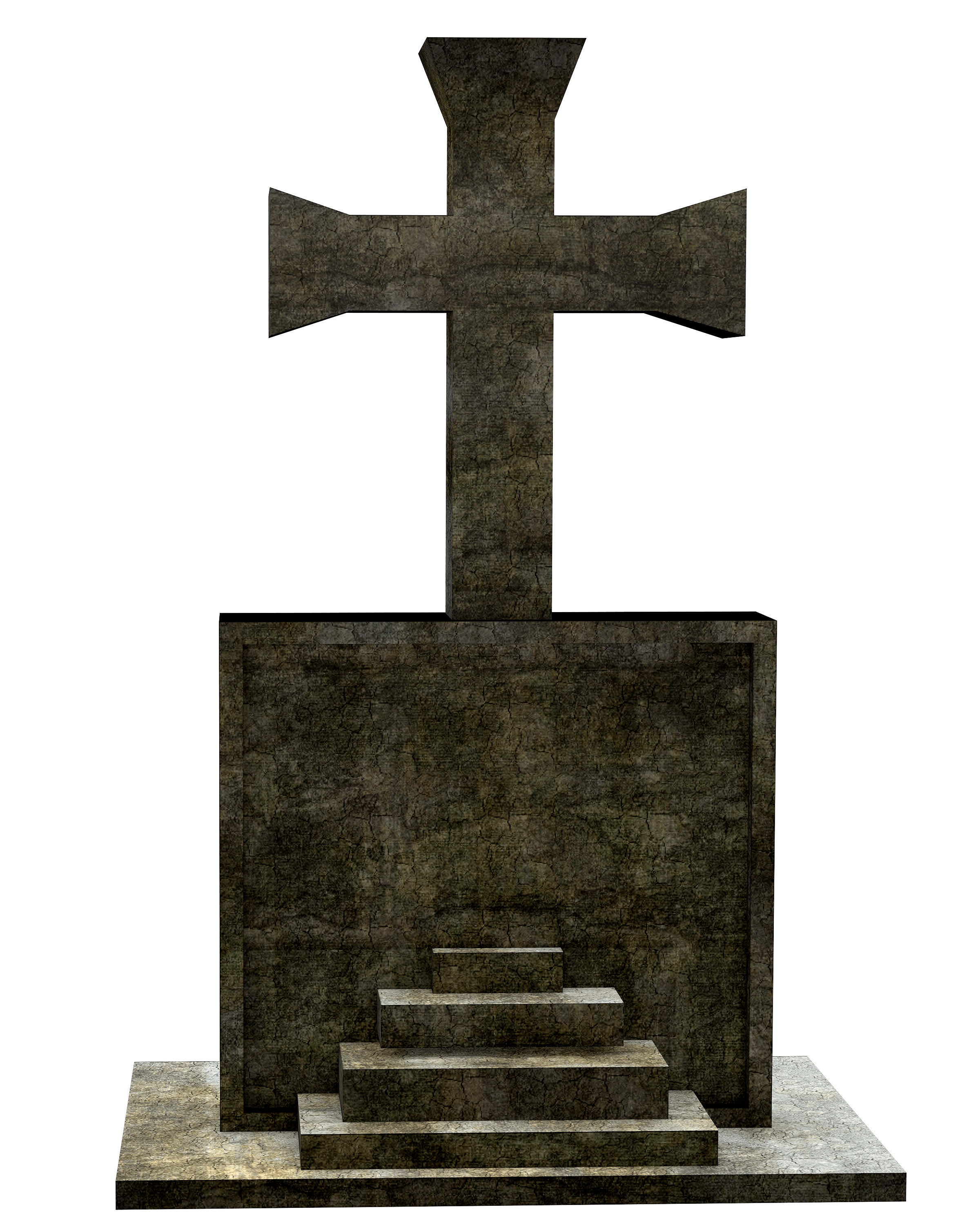 Transparent grave tombstone. Free picture cross object