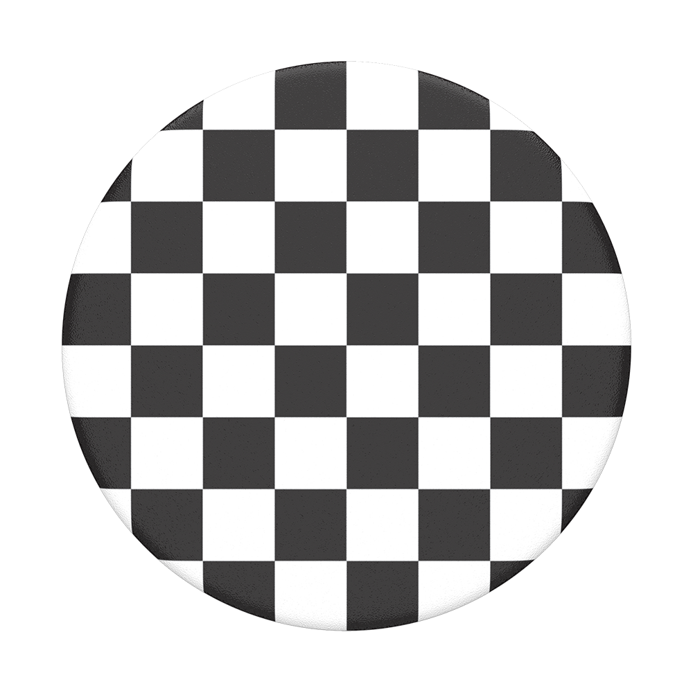 Transparent gray checkered. Checker black popsockets popgrip