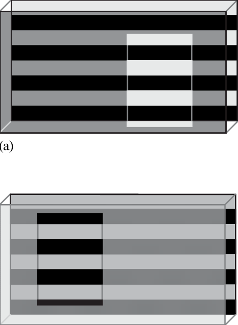 Transparent gray opaque. Stratification of layers and